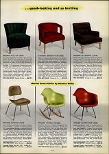 1954 PAPER AD Herman Miller Charles Eames Plywood Chair Molded Plastic Rocker