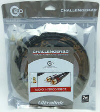UltraLink Challenger 2.0 RCA Audio Interconnect Cables 2 meter pair