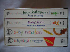 Lot of 4 Baby Einstein VHS Tape Box Set Volume 1 Bach Newton Shakespeare