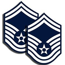 AIR FORCE Rank Senior Master Sergeant Sticker - Military Decal - 2 Pack MR 016