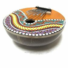 Kalimba Thumb Piano - 7 keys - Tunable - Coconut Shell - Painted