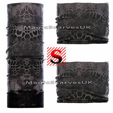 Snakeskin Neck Warmer Scarf Tube Face Mask Tactical Camo Military Balaclava Hat