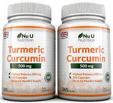 Nu U Curcuma Curcumina 2 Bottiglie x 365 capsule 500mg Antinfiammatorio