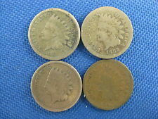 4 PC U.S. INDIAN CENT COIN LOT 1861 1862 1863 1865