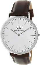 Daniel Wellington Men's Bristol 0209DW Brown Leather Quartz Watch