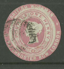 1D PINK BRITISH WORKMAN ADVERTISING RING CUT OUT CUT ROUND  AR20 USED