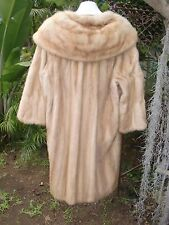 Classic Style Pastel Tan Mink Fur Coat For Craft Oversize Shawl Collar Large
