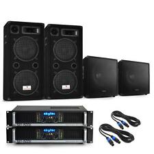 """PRO DJ PA SYSTEM 3000W 2x AMPLIFIER 12"""" SPEAKERS 15"""" SUBWOOFERS *FREE P&P OFFER"""