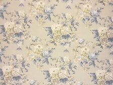 PRESTIGIOUS BOWLAND PORCELAIN GREY BLUE FLORAL COTTON CURTAIN UPHOLSTERY FABRIC
