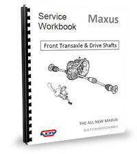 LDV Maxus Gearchange, Clutch, Gearbox, Transaxle, Driveshafts Workshop Manual