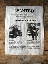 """(669) GANGSTER BONNIE & CLYDE WANTED BANK ROBBERY MURDER POSTER REPRINT 11""""x14"""""""