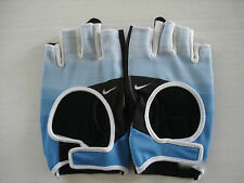 NIKE Women's Fit Cross Training Gloves Treasure Blue/Anthracite Size M New