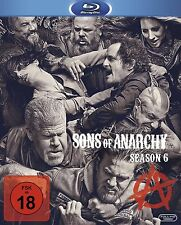 Sons of Anarchy - 6 Staffel  - NEU OVP - 4 Blu Ray Box - FSK 18