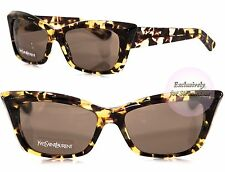 YVES SAINT LAURENT Cat Eye Sunglasses YSL 6337S QR26J Havana Brown