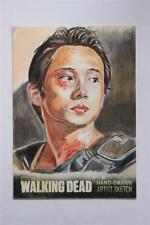 WALKING DEAD SEASON 3 PART Sketch Card by M Dye