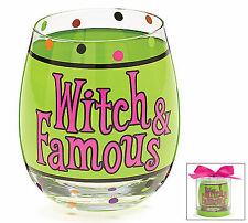 Witch & Famous Stemless Wine Glass Halloween Party Gift burton+BURTON