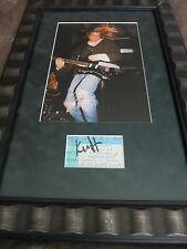 KURT COBAIN SIGNED NIRVANA CONCERT TICKET + COA RARE! FRAMED TO MUSEUM STANDARDS