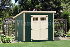 6' x 8' Deluxe Shed Plans, Modern Roof Style #D0608M, Material List Included