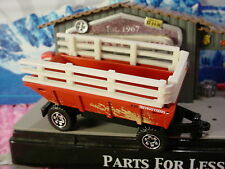 2017 Construction Design FARM TRAILER☆red/white/black☆LOOSE☆Matchbox