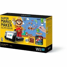 -*BRAND NEW*/- Nintendo Wii U Super Mario Maker Video Game Console Deluxe Set!