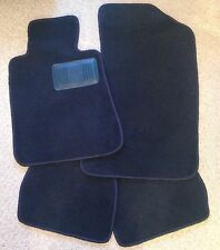 1987 - 1992 BMW 3 Series E30 Convertible BLUE Floor Mats - 4 Pc Mat Set w DS Pad