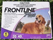 Frontline Plus For Dogs 45-88lbs 6 Months Supply (Purple) Merial NOT KIT! NIB