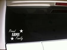 """Proud Army Family car decal vinyl sticker 6""""A42 armed forces patriotic soldier"""