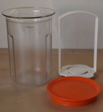 Tupperware Acrylic Small Round Pick-A-Deli 2 cups Clear/ Orange New