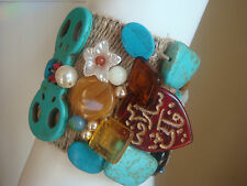 Modeschmuck Armschmuck Edelstein Rustikalle Armband Unikat,von Catia Levy