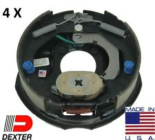 "4 x DEXTER 3500# Trailer Axle Brake 10""x2.2"" Electric Backing plate Complete"
