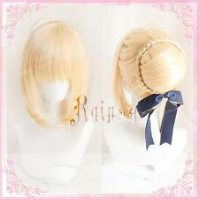 Japan Anime Wig Cosplay Hair Props Gift Fate Saber Arturia Pendragon Fate/Zero