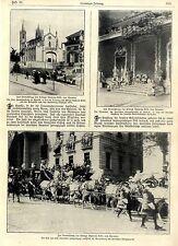 Hochzeit im spanischen Königshaus * 3 historische Aufnahmen von 1906