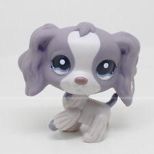 LPS #1209 Littlest Pet Shop Blue Eyes Puppy Purple Cocker Spaniel Dog Toy