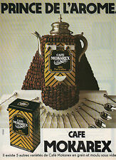 Publicité Advertising  1981  CAFE MOKAREX  en grain et moulu sous vide