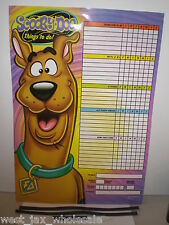 Scooby Doo Kids Things To Do Organization Responsibilty Calendar Chart BRAND NEW