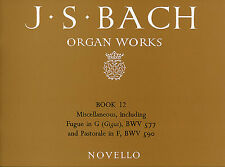 Bach Organ Works Learn to Play Classical Keyboard Music Book 12 FUGUE G BRIDGE