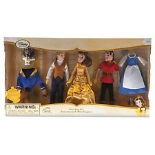 New Disney Princess Belle Beauty and the Beast Mini Doll Set and Gaston