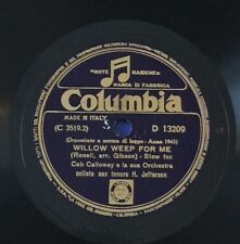 "RARE 78RPM 10"" CAB CALLOWAY WILLOW WEEP FOR ME 1945 COLUMBIA H. JEFFERSON SAX T."