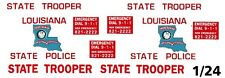 LOUISIANA State Trooper / Police 1/25th - 1/24th Scale Waterslide Decals