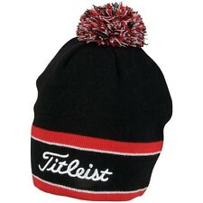 New Titleist Golf Winter Pom Pom Beanie Hat TH6WEAWHP-9 Black Red White
