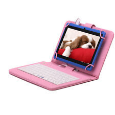 "iRulu 7"" Blue Tablet Pad Quad Core Android 4.4 16GB 3G WIFI w/ Pink Keyboard New"