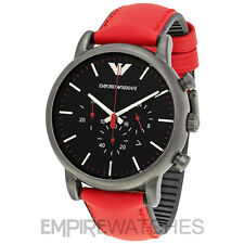 *NEW* MENS EMPORIO ARMANI LUIGI SPORT RED CHRONO WATCH - AR1971 - RRP £225.00