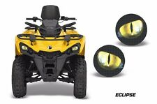 AMR Racing Head Light Eyes Can-Am Outlander-L ATV Headlight Graphics ECLIPSE YLW