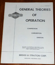 Briggs & Stratton General Theories of Operation Manual