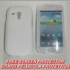Pellicola + custodia BACK COVER BIANCA per Samsung I8190 Galaxy S3 SIII 3 mini