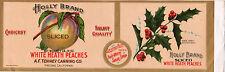 *Original* HOLLY BRAND Christmas Flower WHITE HEATH PEACH Can Label NOT A COPY!