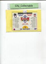 11/7/1989 ST VINCENT $5 ALL STAR GAME AMERICAN LEAGUE M/S MINT IMPERF # S049