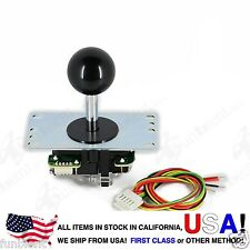 Sanwa Original Japan Arcade Joystick JLF-TP-8YT with Black Ball Top stick mod
