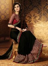 INDIAN WOMEN DESIGNER WEDDING SAREE PAKISTANI PARTY WEAR ETHNIC GEORGETTE  SARI