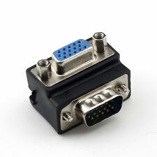 Male to Female 15 Pin VGA SVGA Right Angle 90 Degree Monitor Adaptor Converter